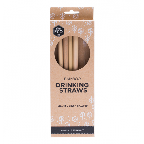 Ever Eco Bamboo Straws 4 Pack