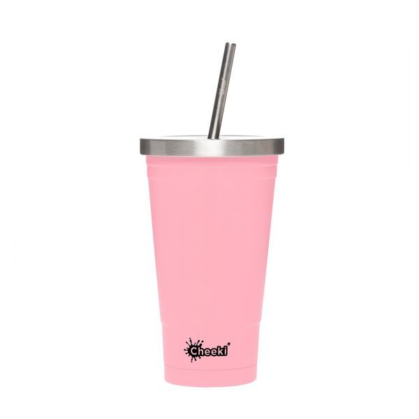 With S/Steel Straw 500ml