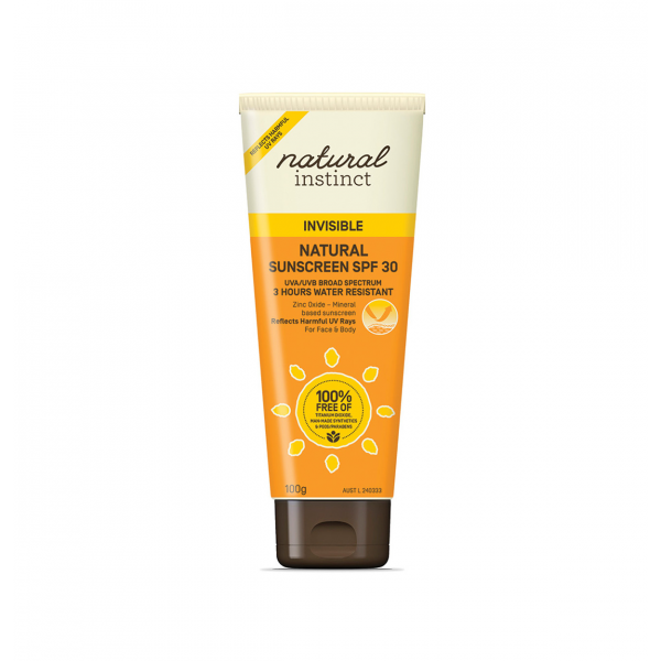 Natural Instinct Natural Sunscreen SPF 30 Invisible